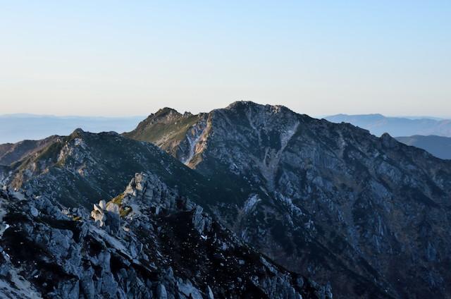 空木岳 山頂からの眺め 南駒ヶ岳