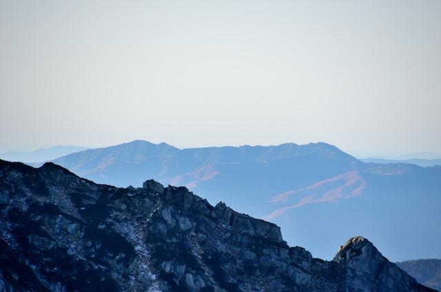 空木岳 山頂からの眺め 蛇垰山~大川入山