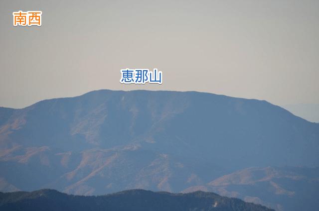 山座同定 空木岳山頂からの眺め 恵那山
