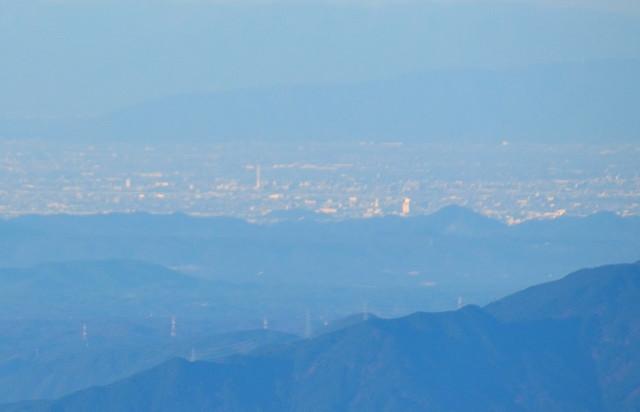 空木岳 山頂からの眺め 小牧山、尾張富士
