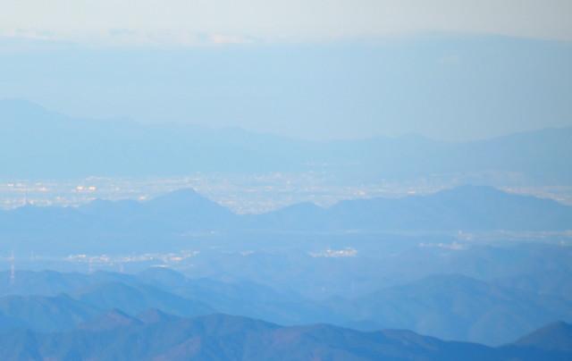 空木岳 山頂からの眺め 金華山、百々ヶ峰