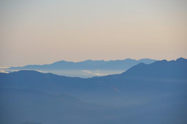 空木岳 山頂からの眺め 秩父山地