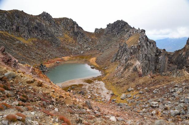 焼岳 新中の湯ルート 火口湖 正賀池