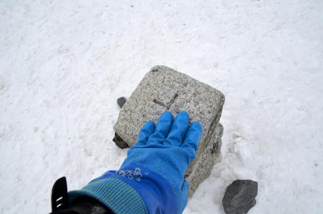 北横岳 登山 冬 北横岳南峰 山頂