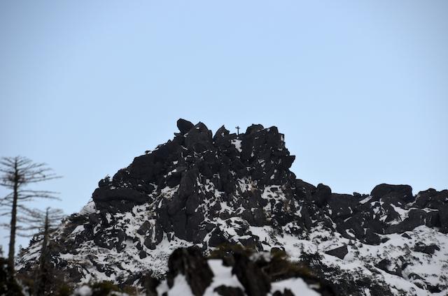 北横岳 登山 冬 三ツ岳Ⅲ峰