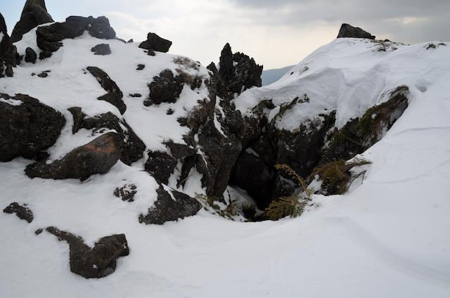 北横岳 登山 冬 三ツ岳Ⅱ峰