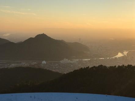 百々ヶ峰 展望台 金華山方面