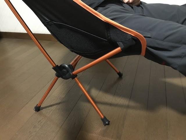 Amazon ヘリノックス風チェア 実際に座った写真