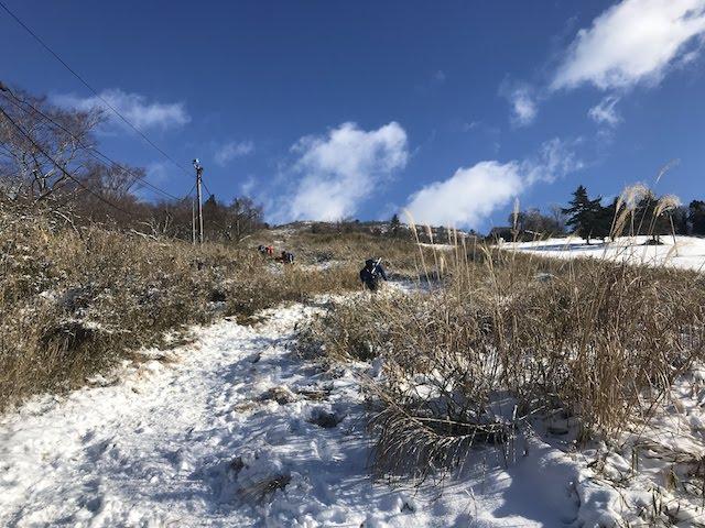 伊吹山 冬 雪山登山 1合目〜2合目