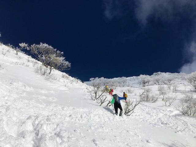 伊吹山 冬 雪山登山 9合目