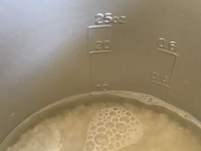 登山 炊飯 水の量 180ml