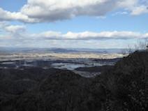 大岩見晴台 明王山 登山道