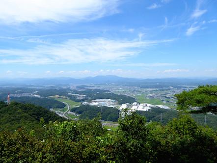明王山見晴台 北側