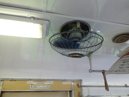 三岐鉄道北勢線 扇風機