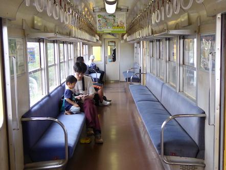 三岐鉄道北勢線 車内