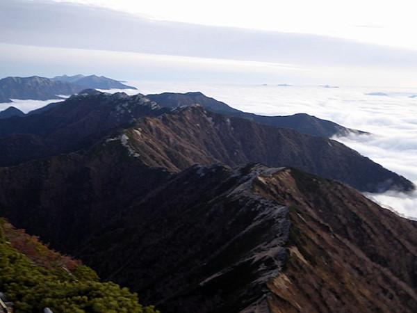 大天井岳 燕岳方面