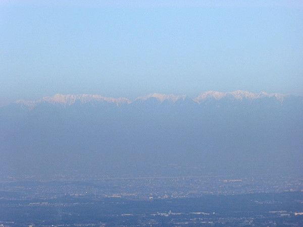 錫杖ヶ岳 山頂からの眺め 中央アルプス