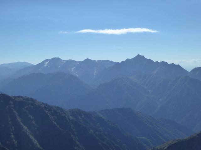 唐松岳山頂からの眺め