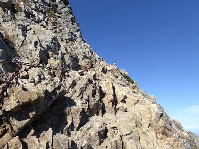 五竜岳 登頂