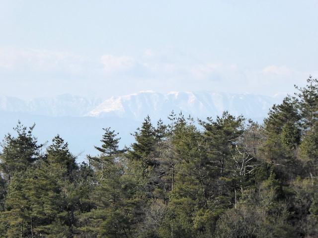 明王山からの眺め 藤原岳