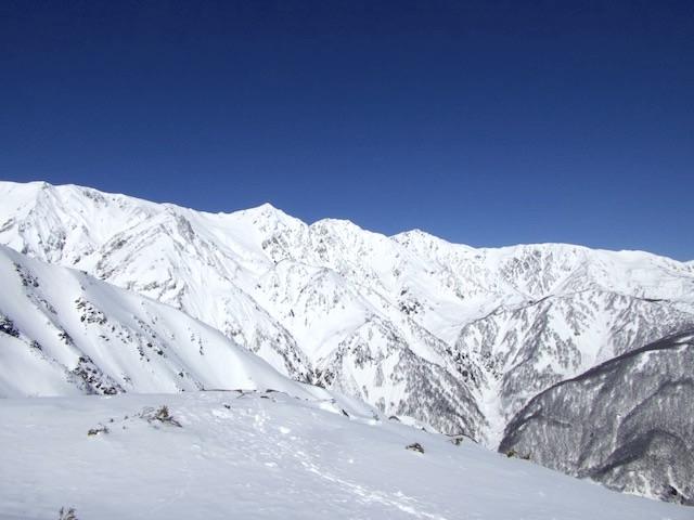 唐松岳 八方尾根ルート 白馬三山方面