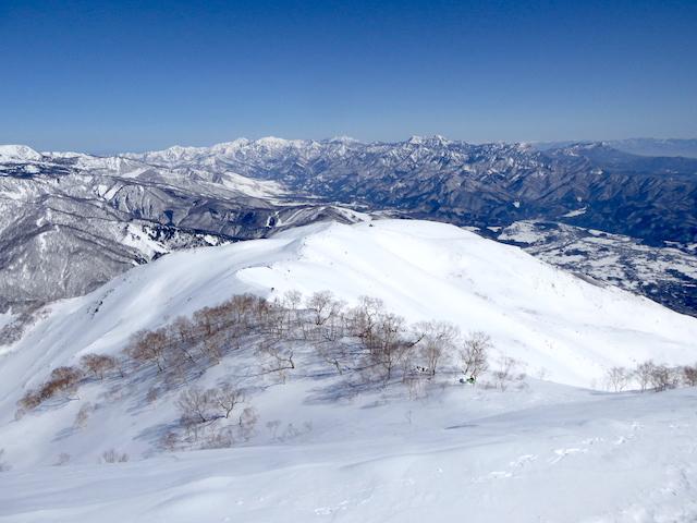 唐松岳 八方尾根ルート 妙高山方面