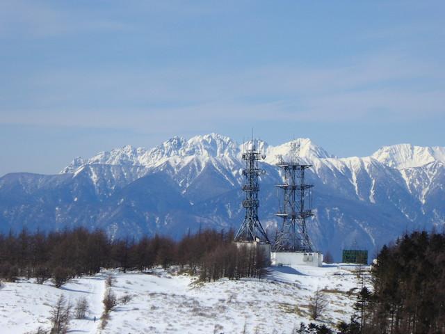 王ヶ頭からの眺め 穂高連峰方面