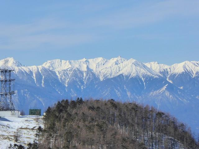 王ヶ頭からの眺め 槍ヶ岳方面
