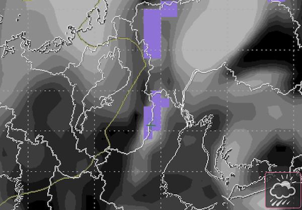 SCW 雨量雲量画面