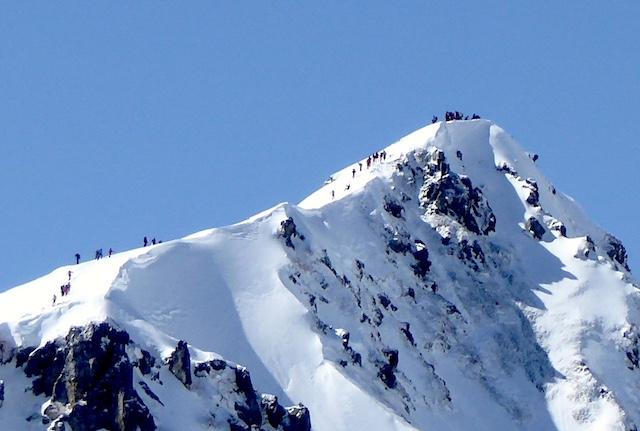 唐松岳 八方尾根ルート 唐松岳山頂の人集り