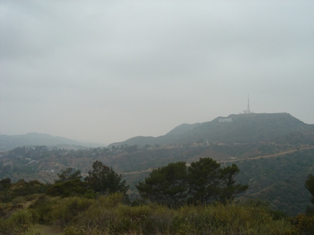 hollywood sign from griffith observatory