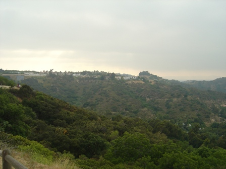 overlook along mulholland drive