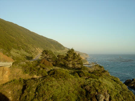 view south, in the big sur mountains, pacific coast highway