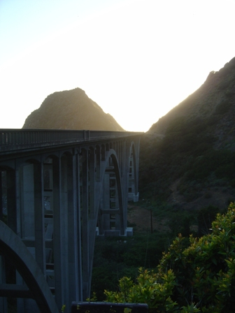 concrete arch bridge, pacific coast highway