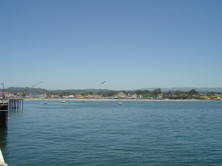 view of santa cruz boardwalk from the santa cruz pier