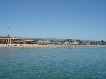 view of casino and boardwalk from pier, santa cruz