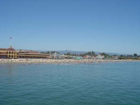 view of casino and boardwalk from pier, santa cruz