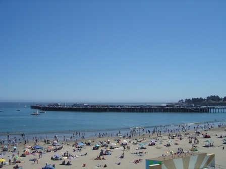 view from skyride of the pier at santa cruz