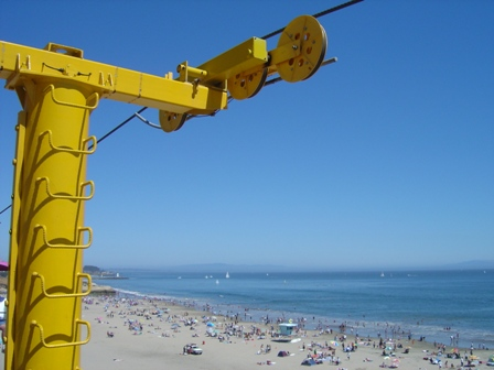 beach and skyride, santa cruz california