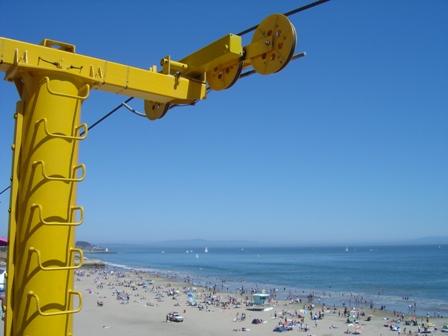 beach and skyride, santa cruz california
