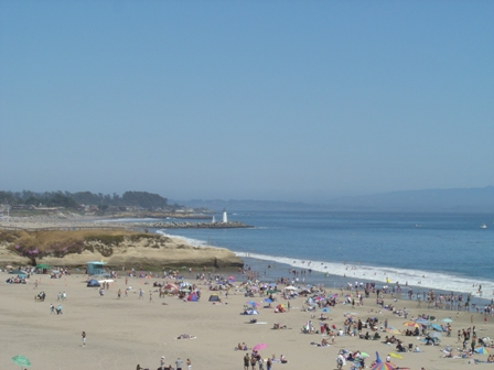 beach and lighthouse, santa cruz california