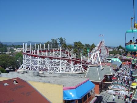 giant dipper, boardwalk, santa cruz california