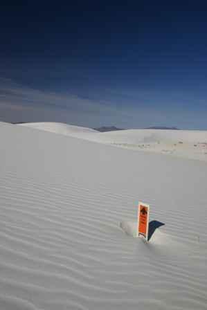 Alkali Flats Trail Marker, White Sands National Monument
