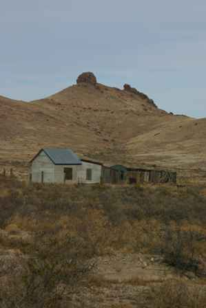 Old Buildings, Monument Peak, Lizard Rock, Lake Valley Ghost Town
