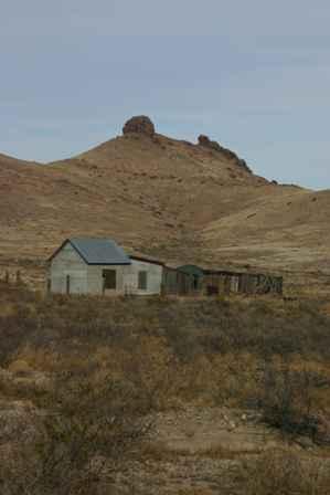 Old Buildings, Monument Peak, Lizard Rock, Lake Valley Ghost Town