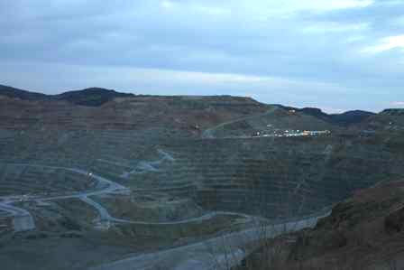 Chino Mine, Phelps Dodge open pit copper mine, near Silver City New Mexico