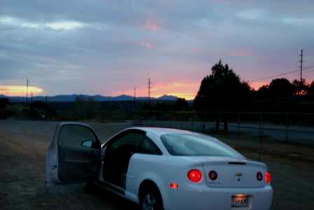 Sunset outside Silver City New Mexico