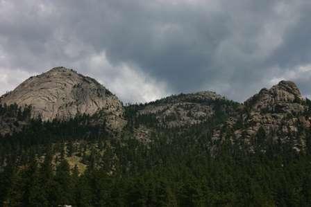 Mountains above Estes Park Colorado