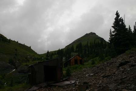 ghost town buildings, Tomboy Road, near Telluride, Colorado