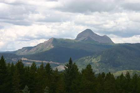 engineer mountain from molas pass, colorado, san juan skyway